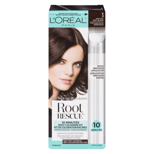 L'Oréal Paris Root Rescue Coloration Permanente 3 Noir Doux
