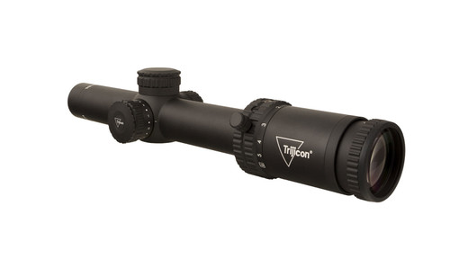 Trijicon Credo® 1-6x24 (First Focal Plane (FFP) Riflescope w/ Red MRAD Segmented Circle, 30mm Tube, Matte Black, Low Capped Adjusters)