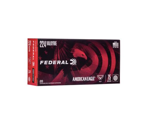 Federal .224 Valkyrie 75gr American Eagle TMJ, 20/Box