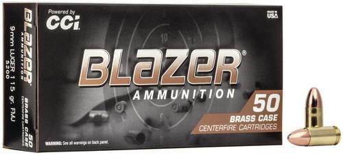 CCI Blazer Brass 115gr 9mm 50rds