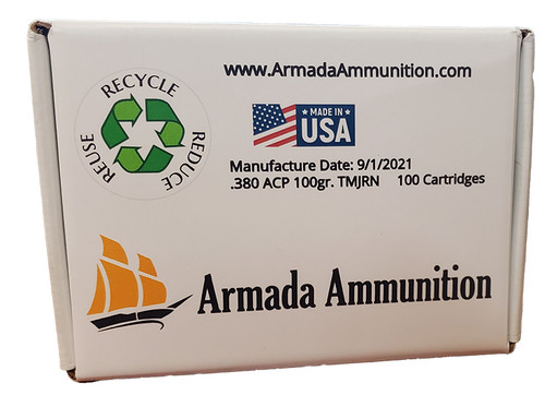 Armada .380ACP 100gr TMJ/RN - 100rds