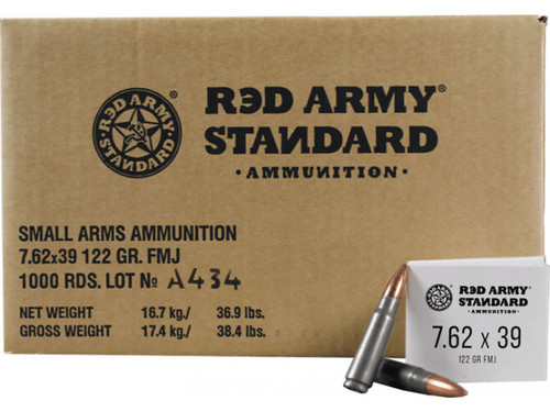 Red Army Standard 7.62x39 122gr FMJ 1,000rds