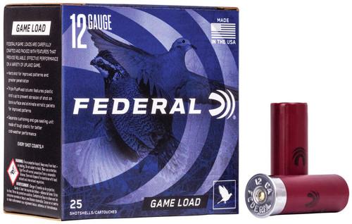 """Federal Game Load 12 Gauge 2.75"""" #7.5  3.25 Dram 1oz Shotshell"""