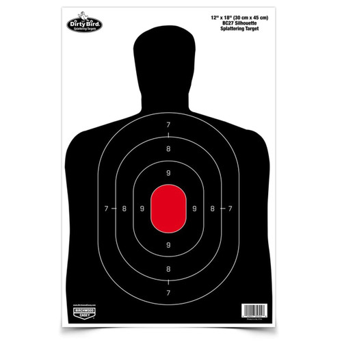 DIRTY BIRD® 12 X 18 BC-27 SILHOUETTE TARGET, 8 TARGETS