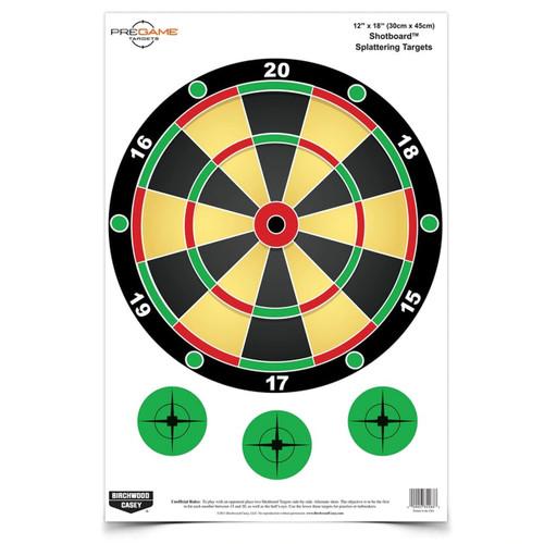 PREGAME® 12 X 18 INCH SHOTBOARD™, 8 TARGETS