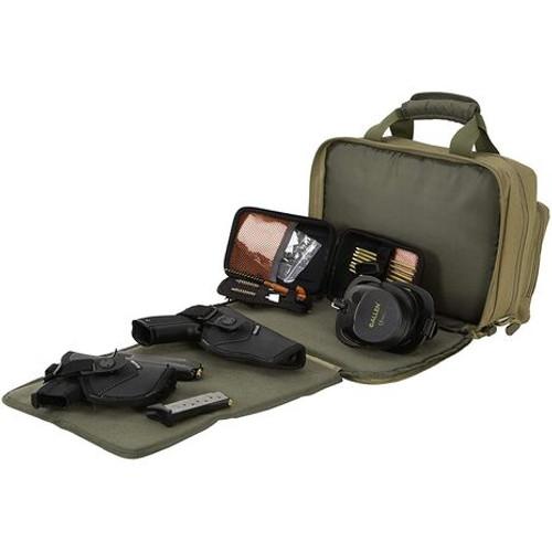 Allen Company Duoplex Double Handgun/Pistol Attache - Tan/Olive
