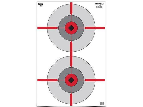 """Birchwood Casey Eze-Scorer Double Bullseye Targets 23"""" x 35"""" Pack of 100"""