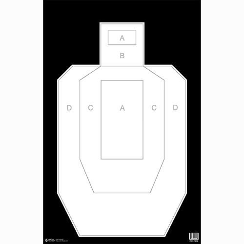 Action Target: High Visibility IPSC/USPSA Paper Target (100pk)