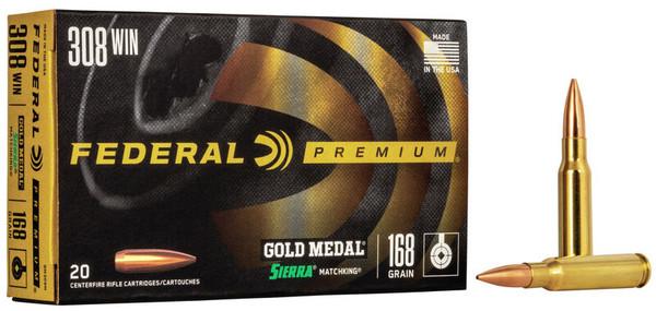 Federal Gold Medal Sierra Match King .308win 168gr