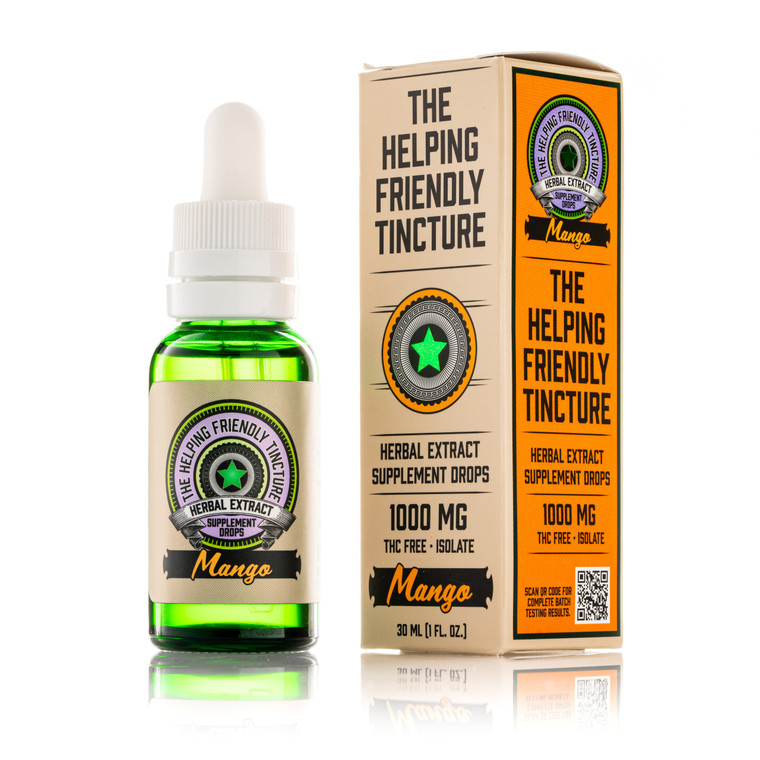 The Helping Friendly Tincture - Mango - 1000mg Isolate - THC Free