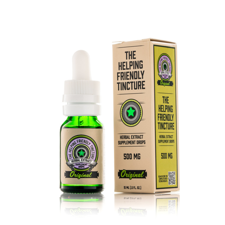 The Helping Friendly Tincture - Original (unflavored) - 500mg Isolate - THC Free