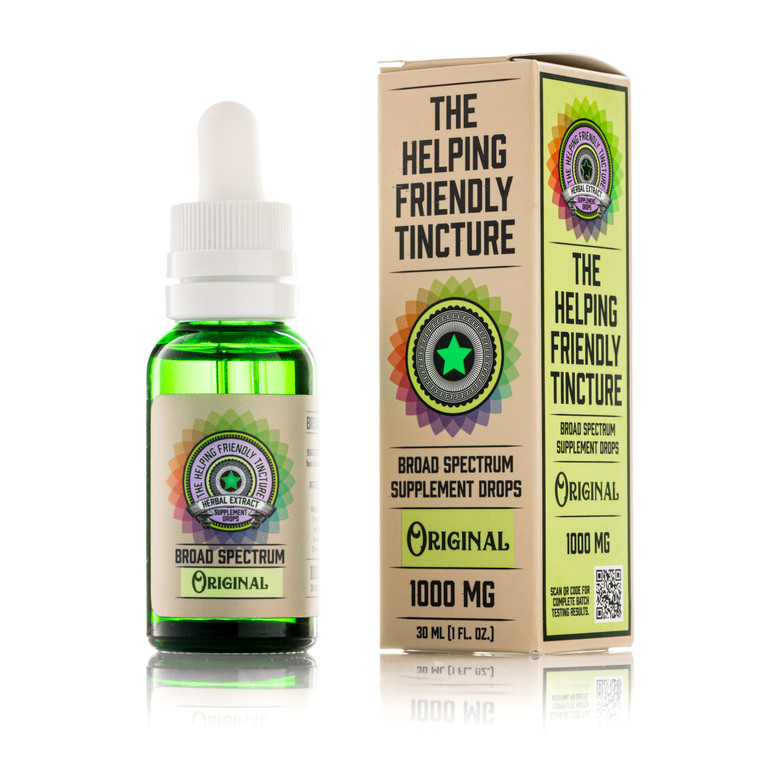 The Helping Friendly Broad Spectrum Tincture - Original - 1000mg