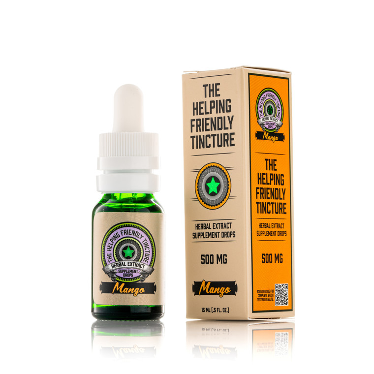 The Helping Friendly Tincture - Mango - 500mg Isolate -THC Free