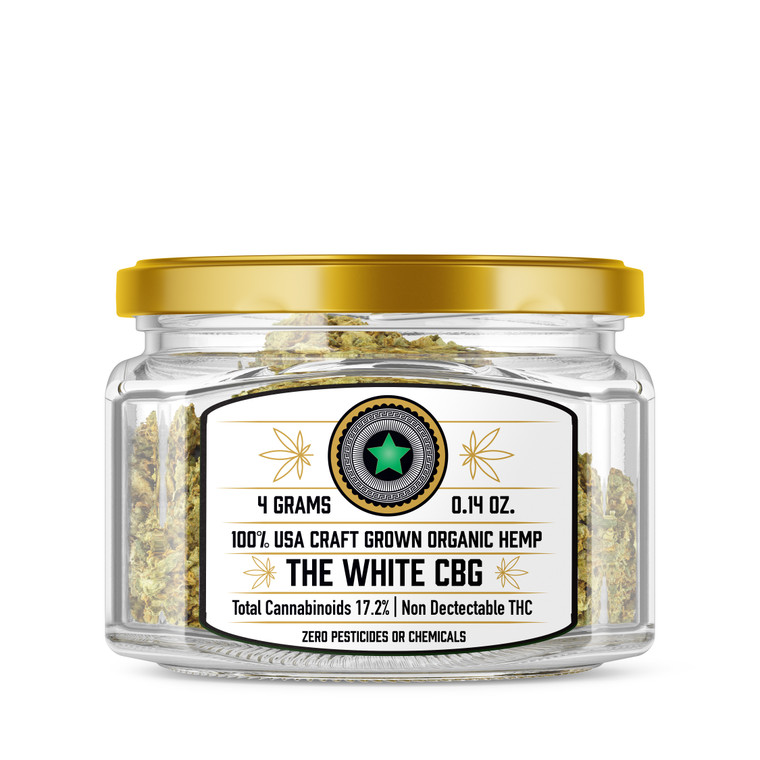 The White CBG Craft Grown Hemp Flower
