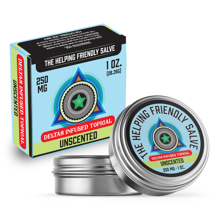The Helping Friendly Salve - Unscented - 250mg - Delta8 Infused Topical