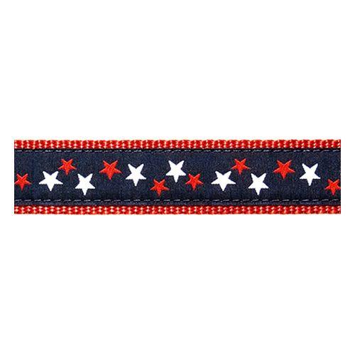 Patriotic Stars on Navy (Narrow Collar)