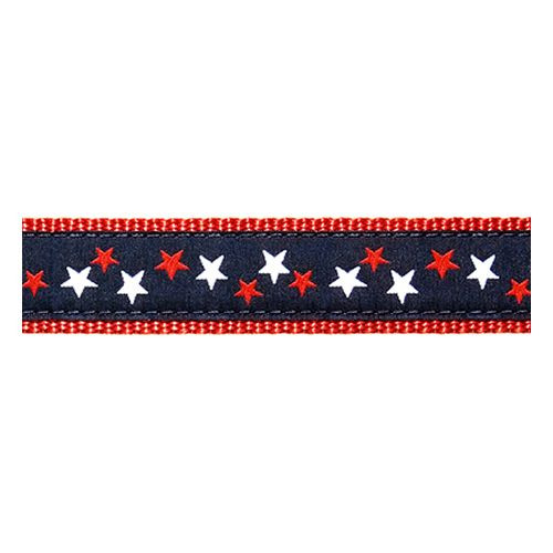 Patriotic Stars on Navy (Wide Leash)