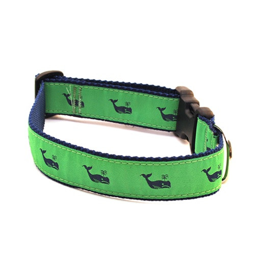 Whale--Navy on Kelly (Toy Collar)