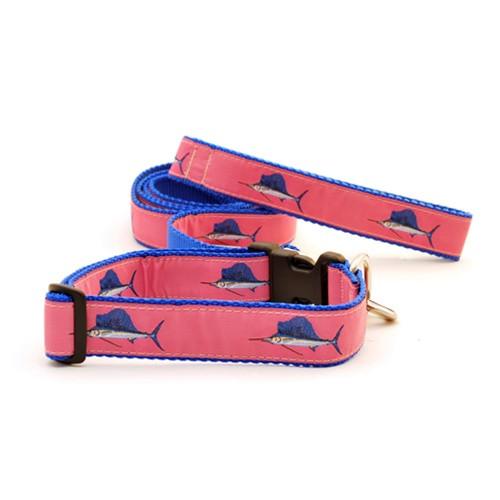 Sailfish on Pink (Narrow Roman Harness)