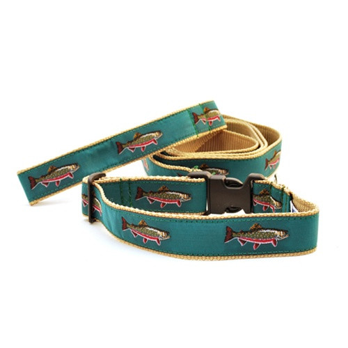 Brook Trout on Teal (Wide Martingale)