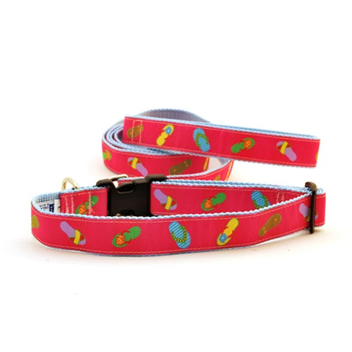 Flip Flops on Pink (Narrow Roman Harness)