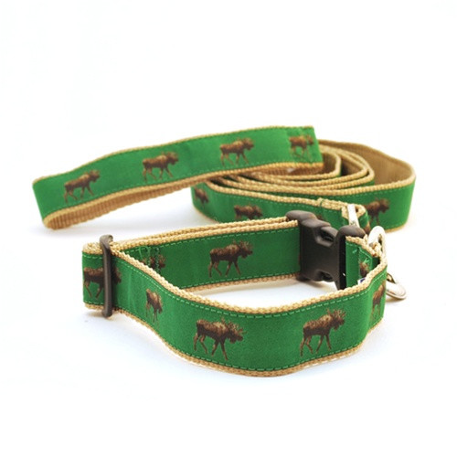 Moose on Green (Wide Collar)