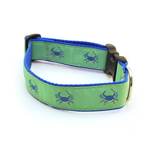 Crab--Blue on Green (Narrow Collar)