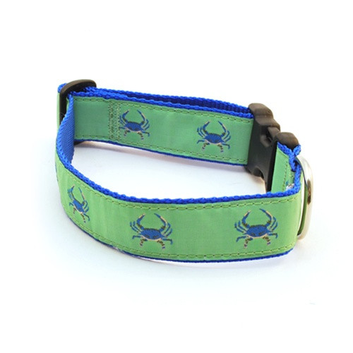 Crab--Blue on Green (Wide Collar)