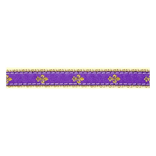 Fleur de Lis on Purple II (Toy Leash)