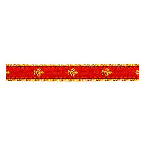 Fleur de Lis on Red II (Toy Collar)