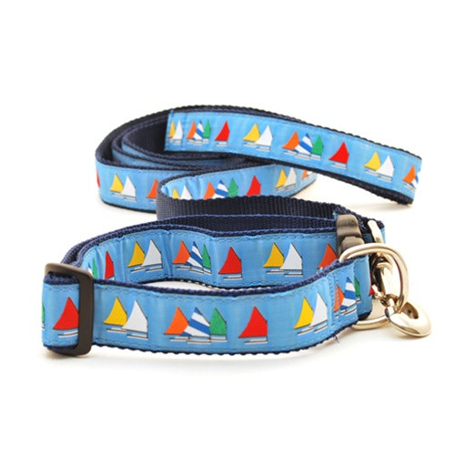 Rainbow Fleet on Light Blue (Wide Leash)
