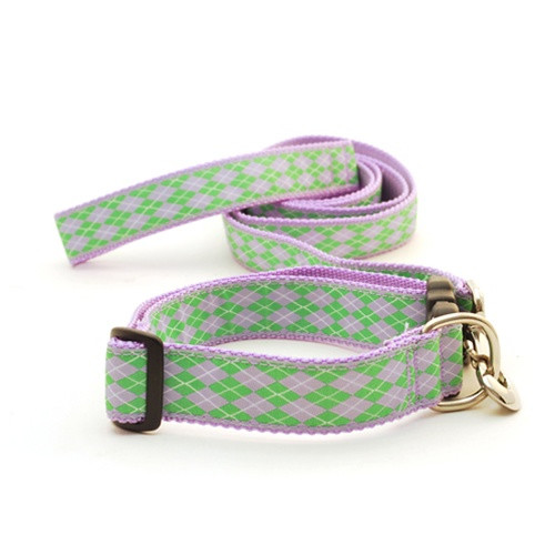 Argyle--Lilac & Kelly (Wide Harness)