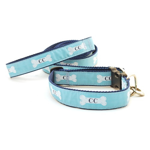 Cape Cod Dog Bone on Teal (Toy Martingale)