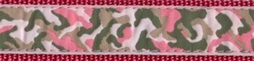 Camouflage on Pink (Wide Martingale)