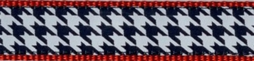 Houndstooth on Red (Narrow Leash)