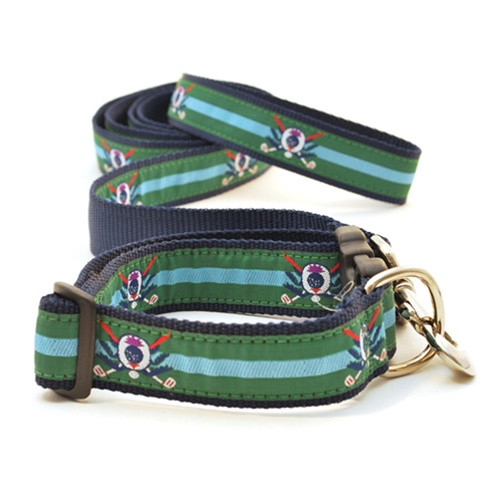 Golf Thistle on Green (Wide Martingale)