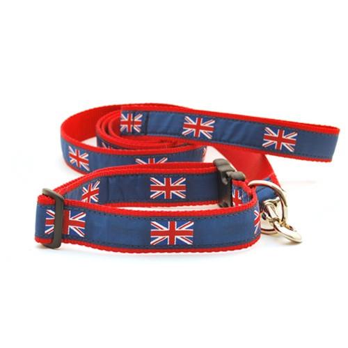British Flag on Blue (Wide Collar)