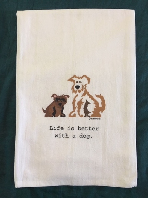 Towel - Life Is Better With A Dog