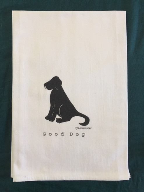 Towel - Black Lab Good Dog