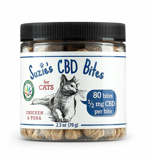 Suzie's CBD Bites for Cats (.5mg/bite)