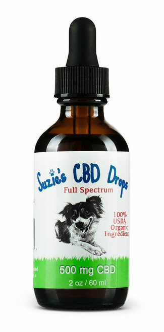 Suzie's CBD Drops for Dogs (500mg/2oz)