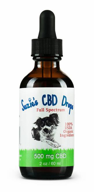 Suzie's CBD Drops for Dogs (500mg/2oz)