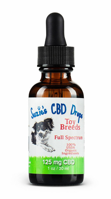 Suzie's CBD Drops for Toy Dogs (125mg/1oz)