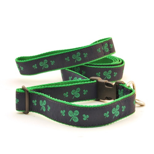 Shamrock--Blue on Green (Leashes)