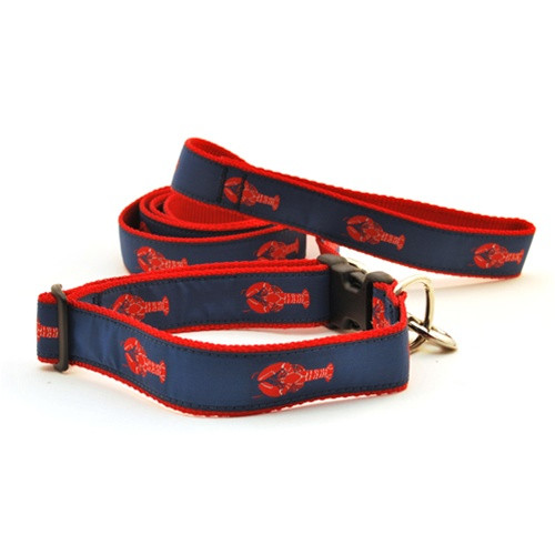 Lobster--Red on Navy (Toy Harness)