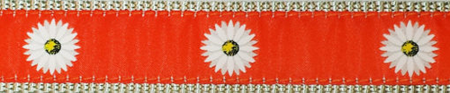 Daisy on Orange (Narrow Roman Harness)