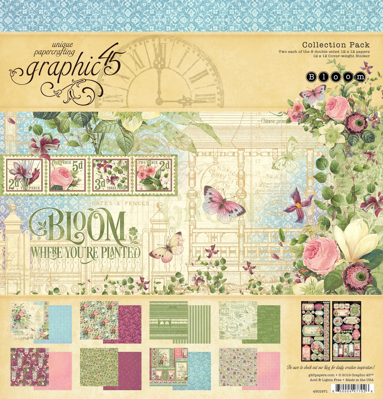 Graphic 45 Collection Kaleidoscope Collection Pack 12x 12