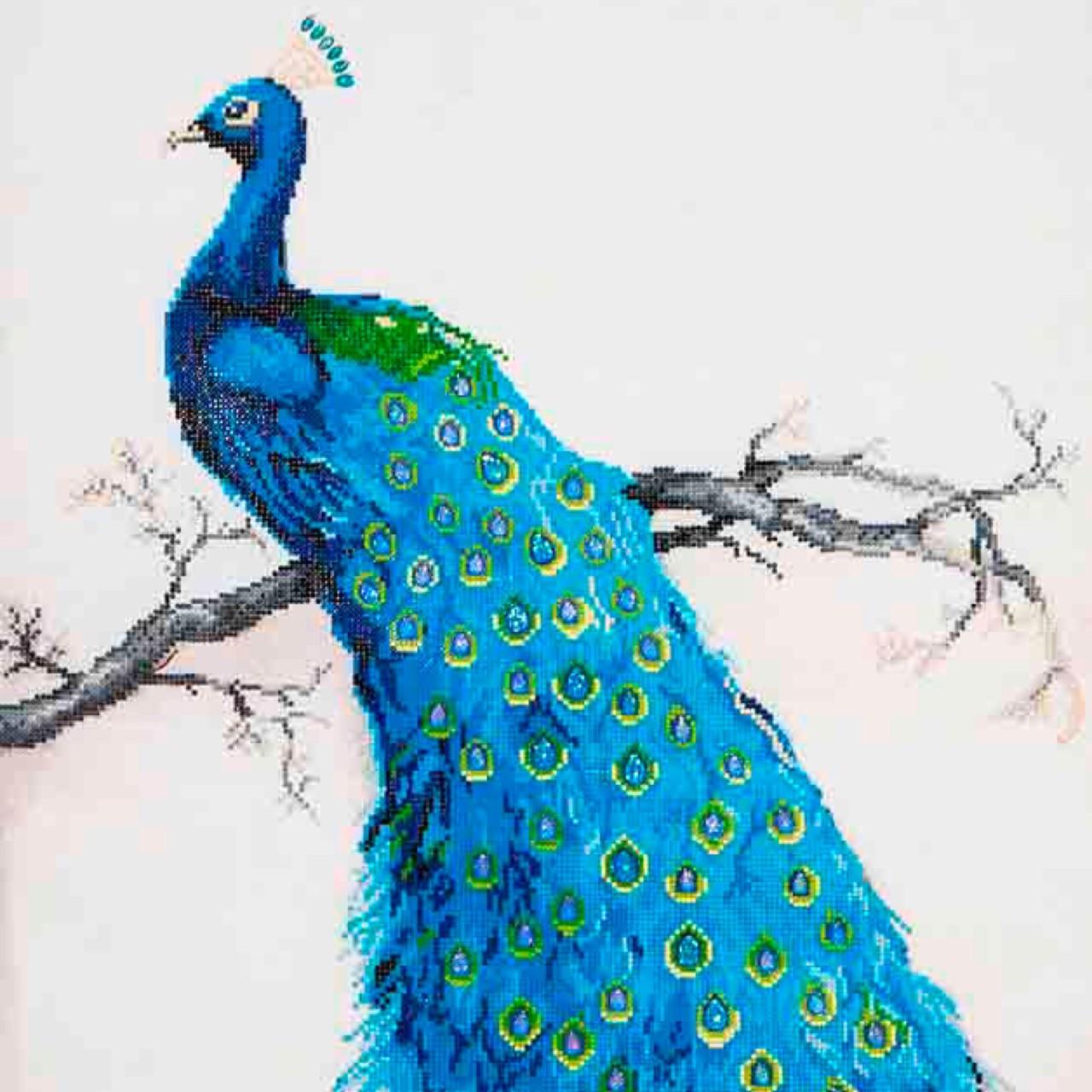 Diamond Dotz Blue Peacock