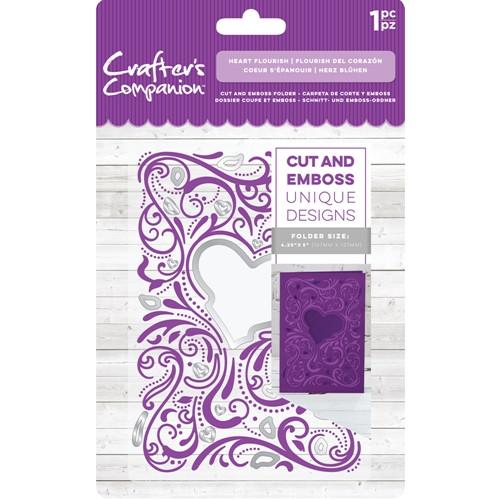 Crafter's Companion Heart Flourish Cut And Emboss Folder