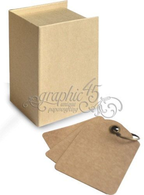 Graphic 45 Book Box Kraft